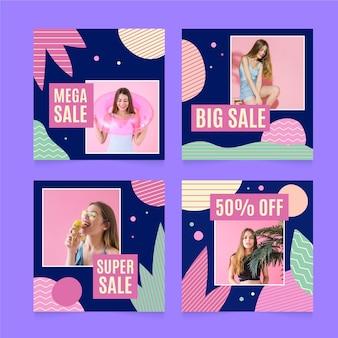 Publicación colorida de instagram de ventas