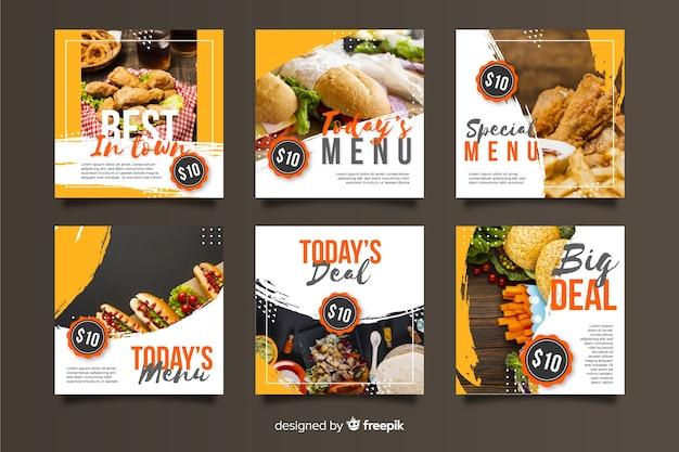 Publicación culinaria de instagram con foto