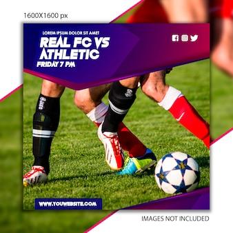 Publicación deportiva de fútbol para red social.