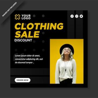 Publicación de descuento de venta de ropa