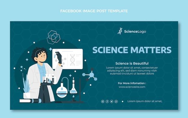 Publicación de facebook de ciencia plana