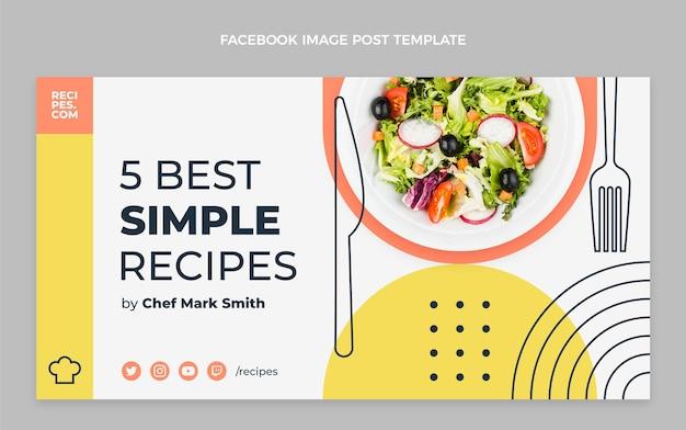 Publicación de facebook de comida plana