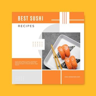 Publicación de facebook de comida de receta de rejilla creativa