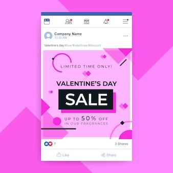 Publicación de facebook del día de san valentín