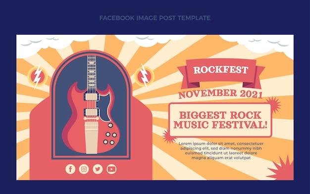 Publicación de facebook de festival de música minimalista plana