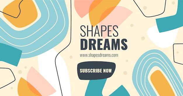 Publicación de facebook de formas abstractas dibujadas a mano