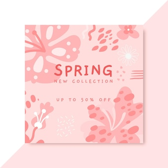 Publicación de facebook monocromática de primavera