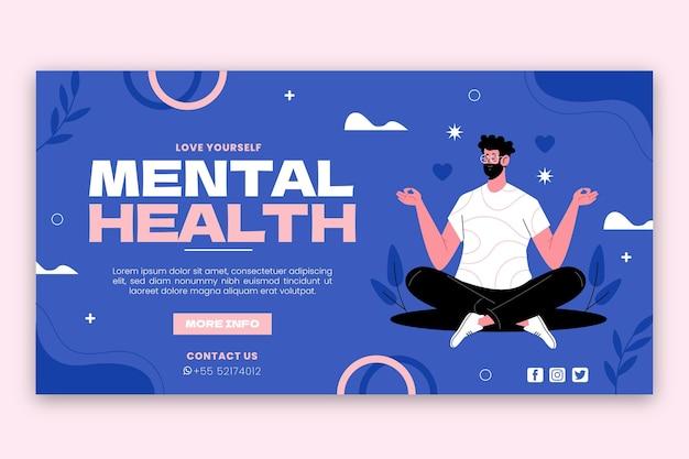Publicación de facebook de salud mental plana