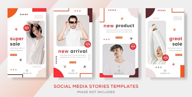 Publicación de historias de banner de moda de gran venta
