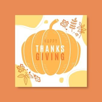 Publicación de instagram de acción de gracias