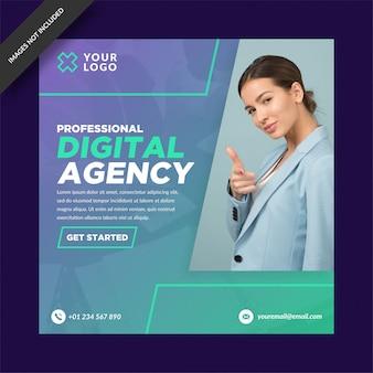 Publicación de instagram de la agencia digital profesional