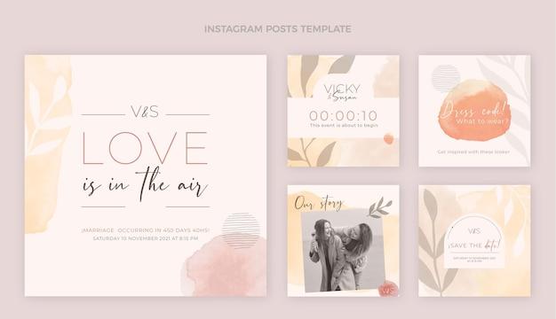 Publicación de instagram de boda dibujada a mano