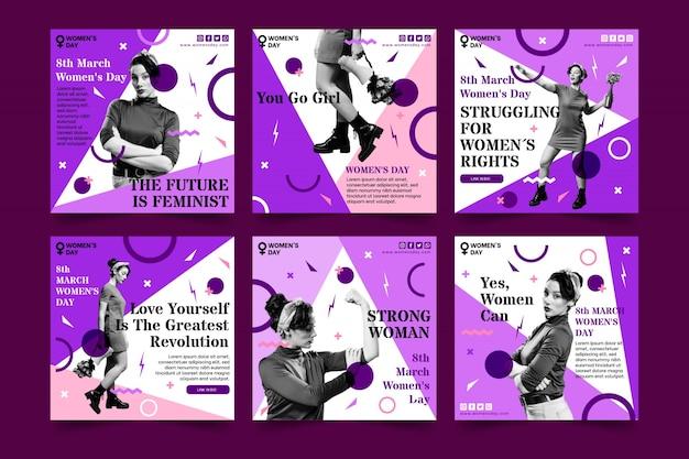Publicación de instagram del día internacional de la mujer