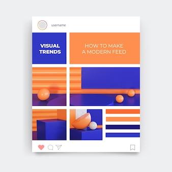 Publicación de instagram de diseño de cuadrícula