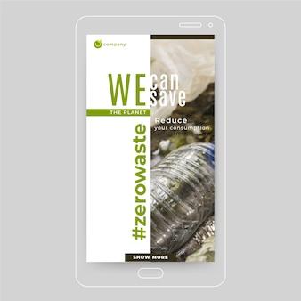 Publicación de instagram de ecología de cero residuos