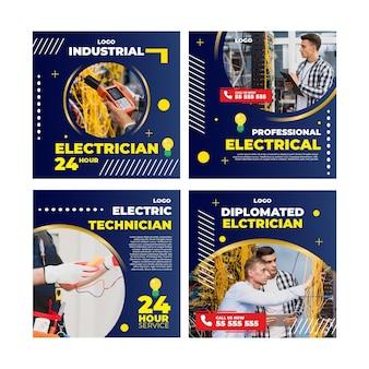 Publicación de instagram de electricista