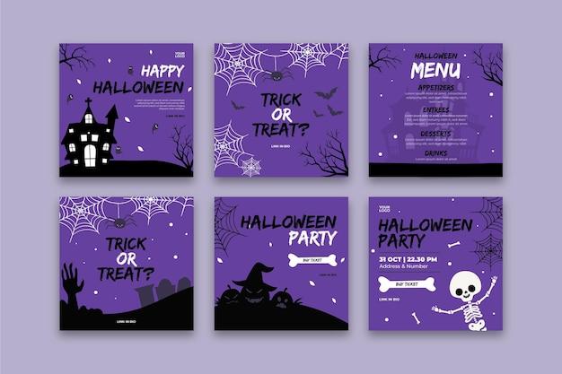 Publicación de instagram de fiesta de halloween