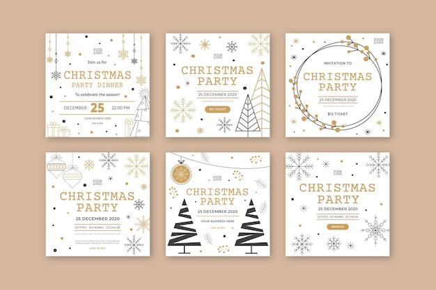 Publicación de instagram de fiesta de navidad