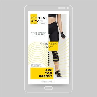 Publicación de instagram de fitness