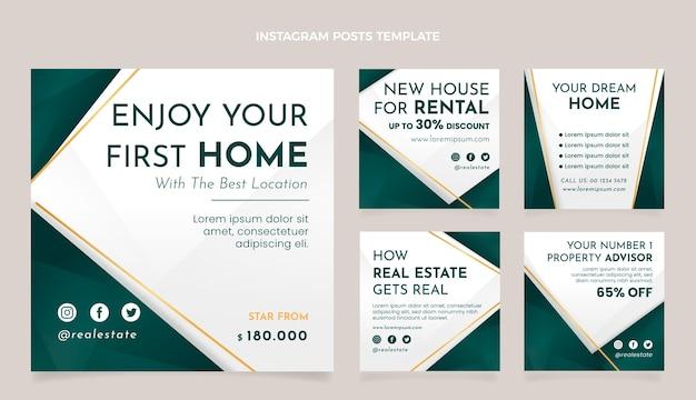 Publicación de instagram inmobiliaria degradada