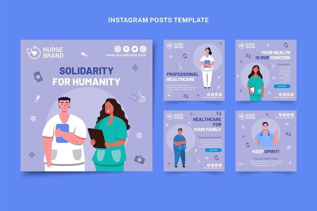 Publicación de instagram médica plana