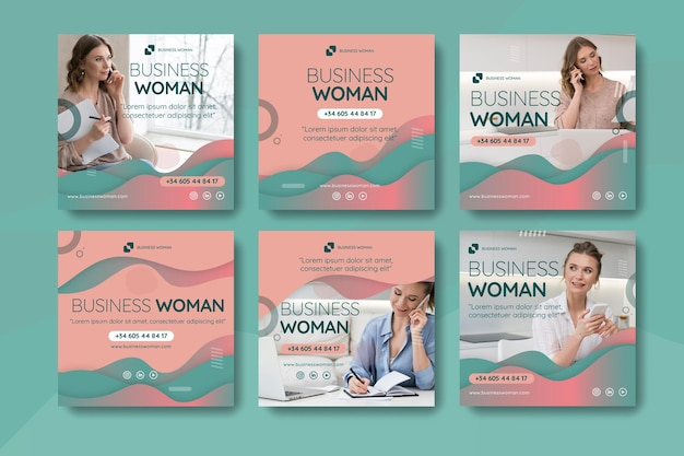 Publicación de instagram de mujer de negocios