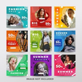 Publicación de instagram o banner cuadrado. tema de la moda