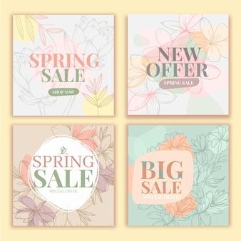 Publicación de instagram de rebajas de primavera