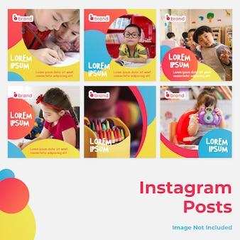 Publicación de instagram en redes sociales para niños