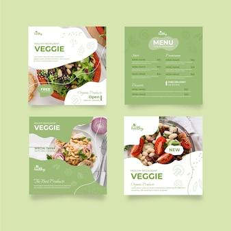 Publicación de instagram de restaurante de comida saludable