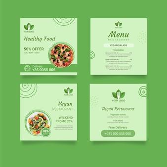 Publicación de instagram de restaurante saludable