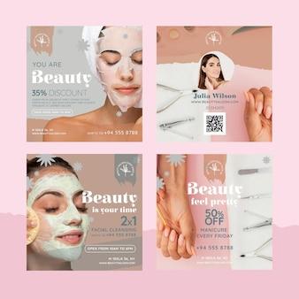 Publicación de instagram de salón de belleza y salud