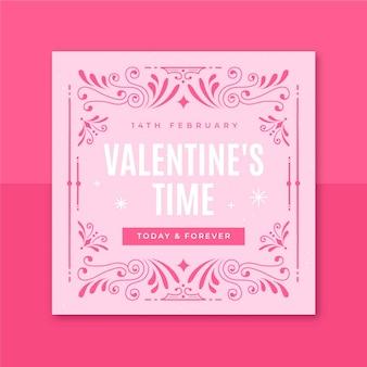Publicación de instagram de san valentín monocolor ornamental