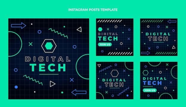 Publicación de instagram de tecnología mínima de diseño plano