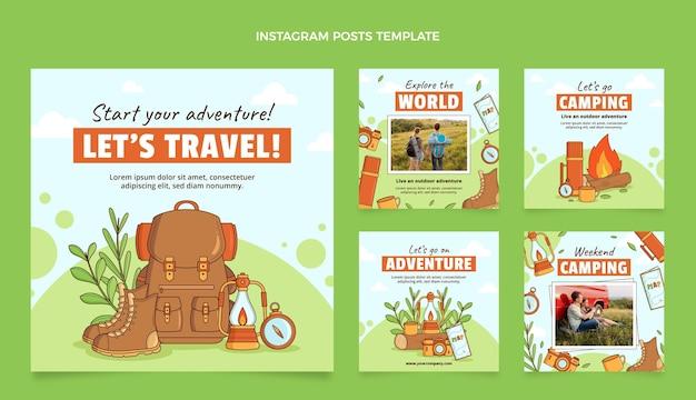 Publicación de instagram de viajes dibujada a mano