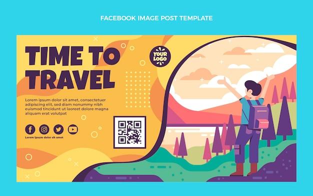 Publicación de instagram de viajes de diseño plano