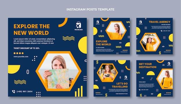 Publicación de instagram de viajes planos