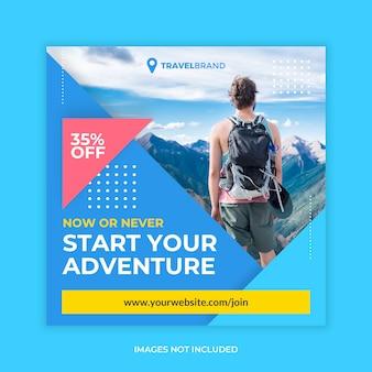 Publicación de instagram de viajes