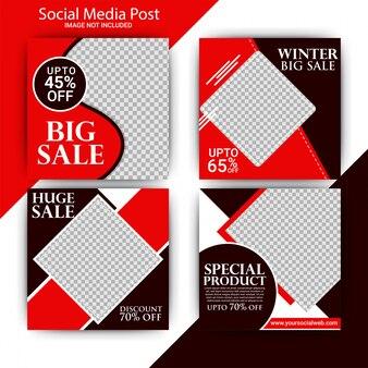 Publicación de moda en redes sociales