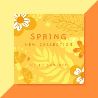 Publicación monocromática de instagram de primavera
