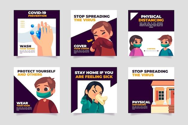 Publicación plana de instagram de coronavirus
