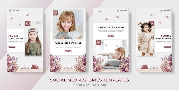 Publicación de plantilla de banner de venta de moda floral
