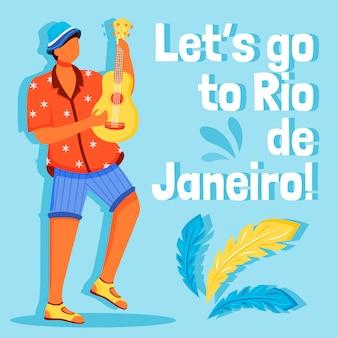 Publicación de redes sociales de carnaval de brasil
