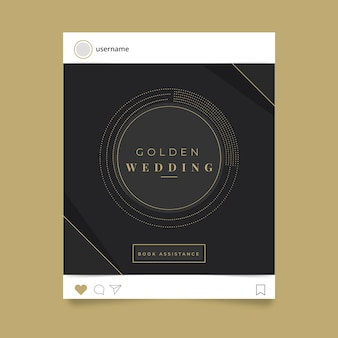 Publicación en redes sociales de celebración de bodas
