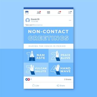Publicación en redes sociales de coronavirus grid