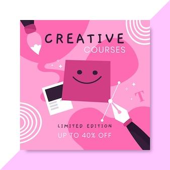 Publicación de redes sociales de diseño monocolor dibujado a mano