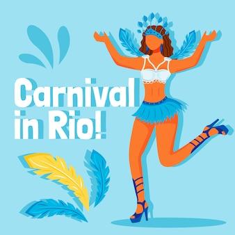 Publicación en redes sociales del festival de brasil