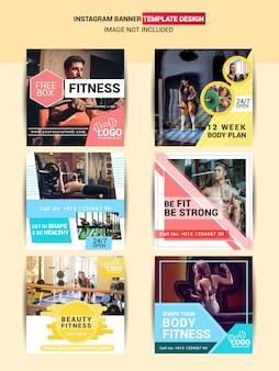 Publicación en las redes sociales de gym & fitness.