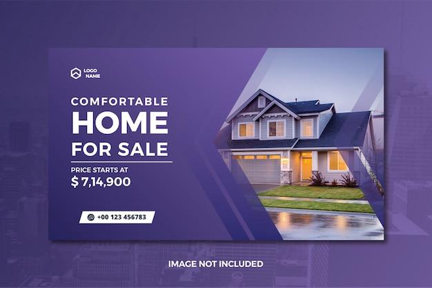 Publicación en redes sociales inmobiliarias y banner web