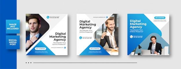 Publicación de redes sociales de marketing de negocios digitales